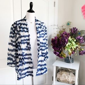 Madison Leigh Sheer Abstract Open Cardigan